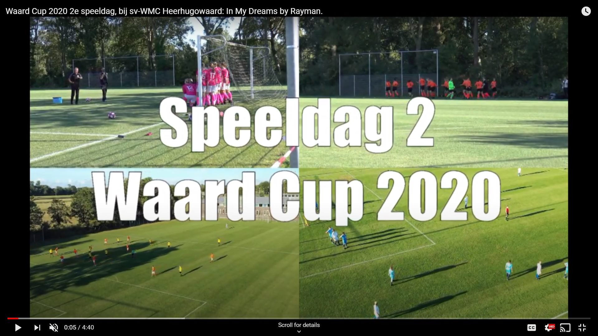 Video 2e speeldag Waard Cup